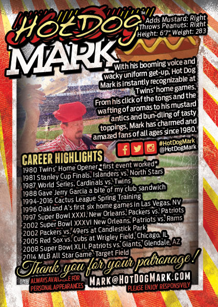 2016 Hot Dog Mark Card Back