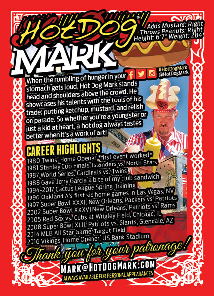 2017 Hot Dog Mark Back