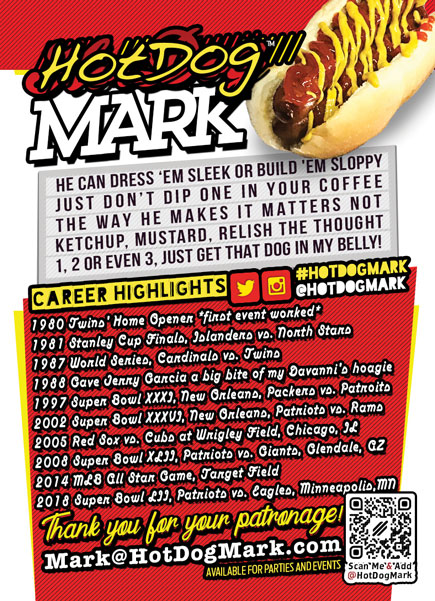 2019 Hot Dog Mark Card back